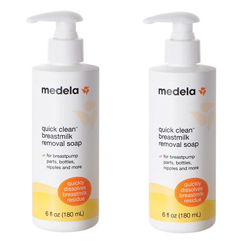 と闘う部門噛むMedela Quick Clean Breastmilk Removal Soap, 2 - 6 Ounce Bottles by Medela