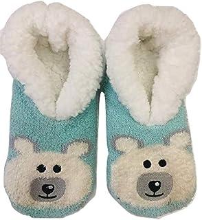 JA Hosiery Womens Cozy & Comfortable Womens Slipper Socks-Fuzzy Socks for Women-Cute-Extra Soft Socks