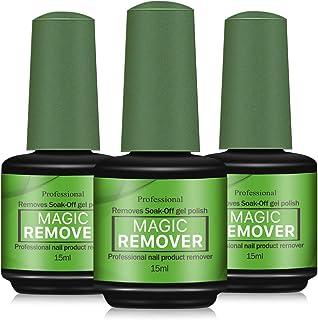 3-pack gel nagellackborttagare, magisk nagellackborttagare, professionell tar bort blötläggningsgel nagellack på 3-5 minut...