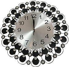 ساعة حائط أنيقة مزخرفة لون أسود