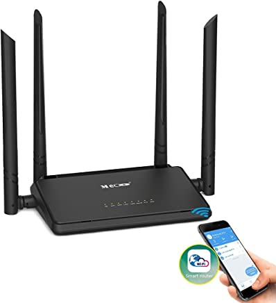 $24 Get WiFi Router, MECO N300 Wireless Router with 4x5dBi High Gain External Antennas 2.4GHz Band Singnal Extender with Smart APP, Parental Controls, Good for Small House and Office