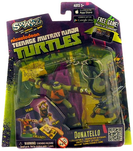 Teenage Mutant Ninja Turtles 12309 - SwappZ - Donatello City, Spielfigur für App-Spiel mit 3 Power-Up Münzen