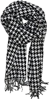 MINAKOLIFE Houndstooth Check Classic Cashmere Feel Men's Winter Scarf