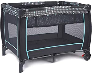 ZRWZZ Baby cot European Crib  360  Guardrail Striped Travel Crib  Stable and Breathable Portable crib Bed Unisex  Low Pressure Slow Rebound Crib Baby travel bed  100X74 5X70cm  Grid  Color