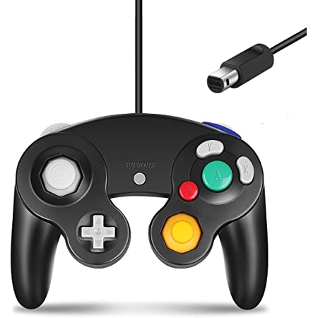 GameCube Controller, Classic Controller Gamepad Compatible with Nintendo Wii, Upgraded - 1 Pack | Black