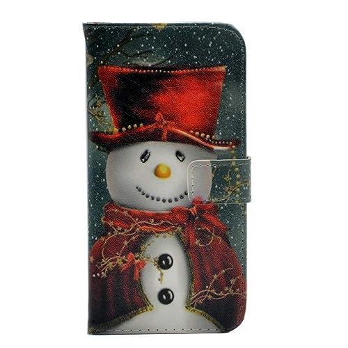 fa0de2163ed1 Christmas iPhone 5S Wallet Cover: Amazon.com