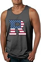 CYSKA Men's Colors Rutgers University R Logo Flag Tank Tops Black