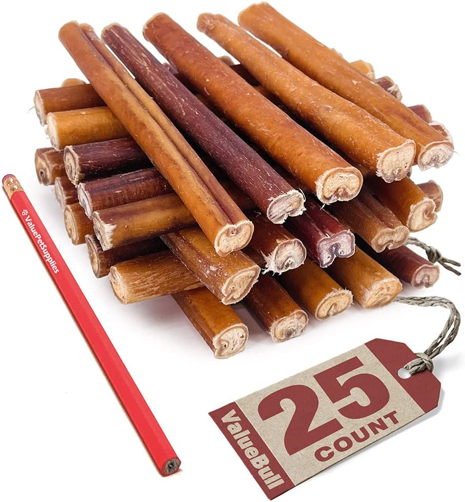 Jacksonville Mall ValueBull Bully Sticks for Dogs Thick All 25 - D Count Natural outlet