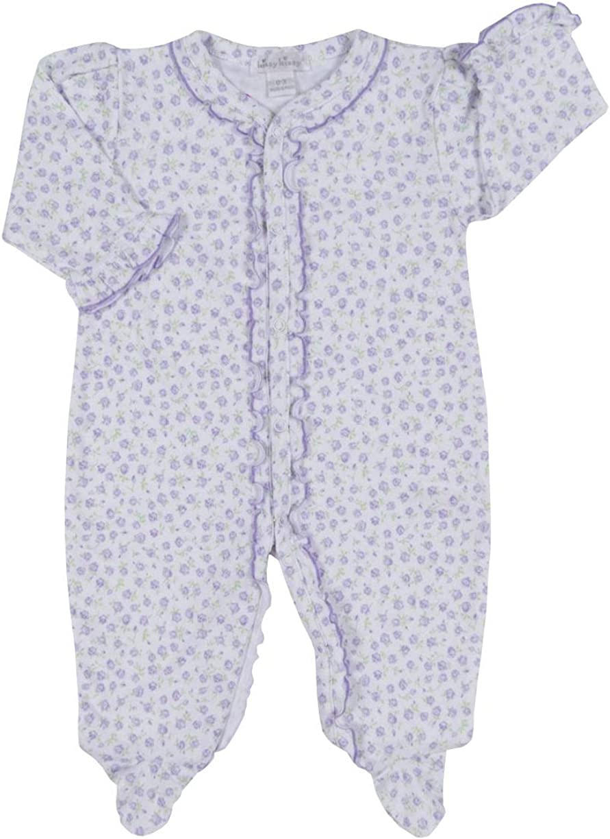 Kissy Baby-Girls Infant Rambling Roses Footie Print store Genuine Free Shipping