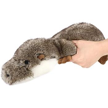 ペットおもちゃ Pawaboo 犬おもちゃ カワウソ(獺、川獺) 噛むおもちゃ 発声装置搭載 ぬいぐるみ 歯ぎしり 清潔 安全 丈夫 耐久性 トレーニング ストレス解消 運動不足 1個 小型犬・中型犬に適用 Gray/Brown