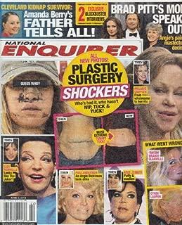 June 3, 2013 National Enquirer Plastic Surgery Shockers Amada Berry's Father Brad Pitt's Mom