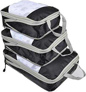 Compression Packing Cubes Travel Luggage Organizer,Foldable,Small/Luxury/Large/Folding Travel Bag Organizer/Men/Women/Set