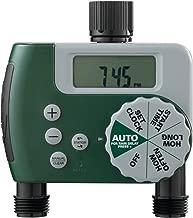 Orbit 58910 Programmable Hose Faucet Timer, 2 Outlet, Green