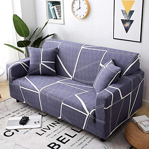 Funda Sofa 4 Plazas Chaise Longue Azul Púrpura Fundas para Sofa con Diseño Elegante Universal,Cubre Sofa Ajustables,Fundas Sofa Elasticas,Funda de Sofa Chaise Longue,Protector Cubierta para Sofá