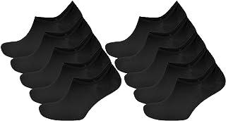 Pack de 10 calcetines deportivos invisibles negros ricos en algodón para hombres con soporte de silicona