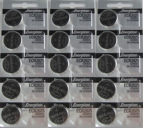 15 Energizer CR2025 Lithium 3v Batteries