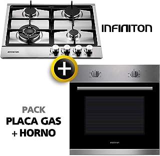 Pack Horno + Placa Gas INFINITON (Placa de Gas mas Horno multifuncion, Pack Ahorro) (Gas + Horno)