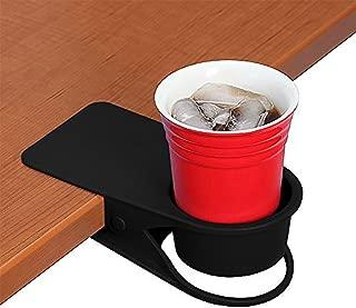 Do4U Drinking Home Office Table Desk Side Huge Clip Water Drink Beverage Soda Coffee Mug Holder Cup Saucer Design (Black)