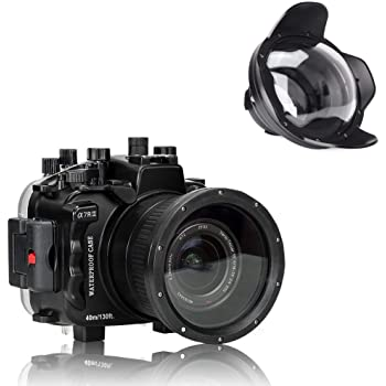 Sea Frogs Underwater Camera Housing Case w/Wide Angle Lens Kit, 40M/130FT Waterproof Housing for Sony A7 III A7R III 28-70mm Lens