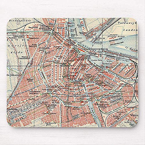 Vintage Kaart van Amsterdam (1905) (2) muismat