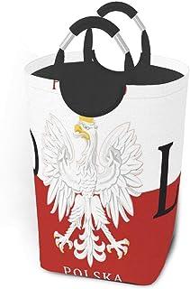 N\A Drapeau polonais Pologne Polska Paniers de Rangement Panier à Linge Sale et Flexible Sac Organisateur écologique Chari...