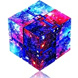 Fidget Toys Infinity Cube, Fidget Blocks for Stress and Anxiety Relief Mini Preschool Toys, Fidget Cube Toy Relaxing Hand-Held for Adults and Kids, Killing Time for ADD/ADHD/OCD (Starry Sky) Eoqiza