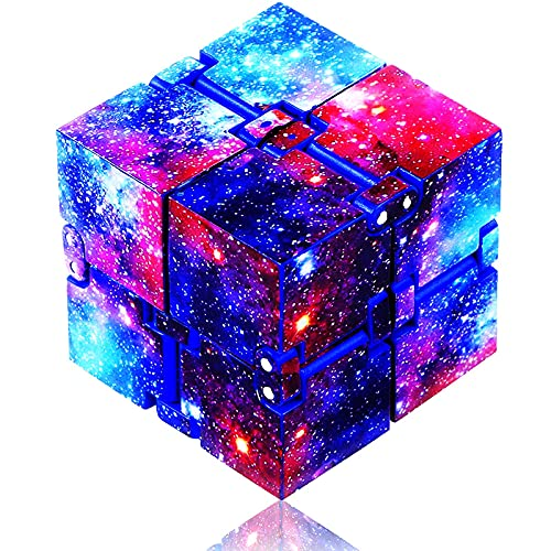 Infinity Cube Fidget Toy, Fidget Blocks for Stress and Anxiety Relief Mini Preschool Toys, Fidget Cube Toy Relaxing Hand-Held for Adults and Kids, Killing Time for ADD/ADHD/OCD (Starry Sky) Eoqiza