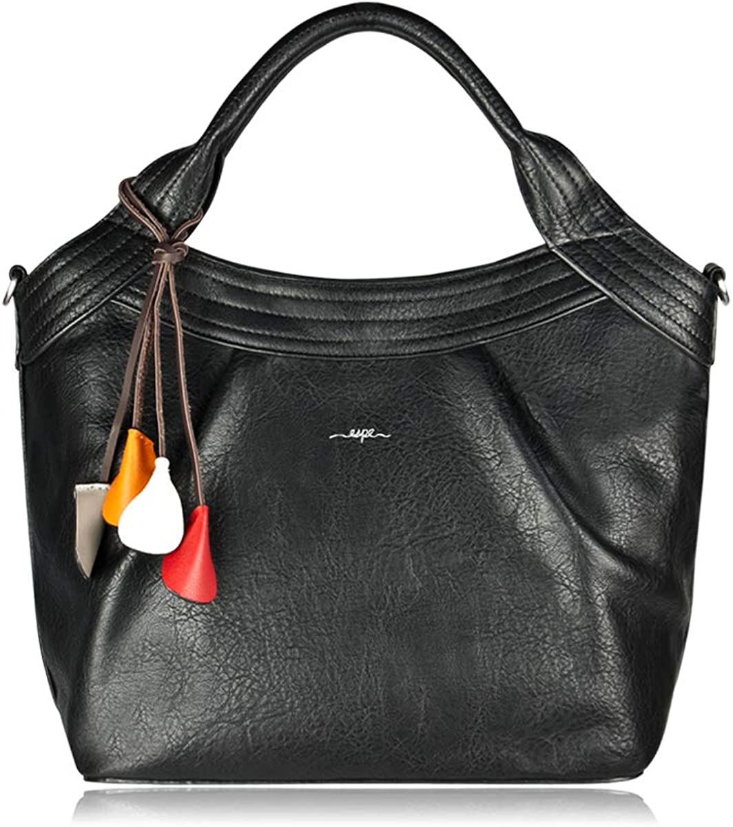 ESPE Stella Vegan Leather Women's Tote gift Flower with unisex Charm