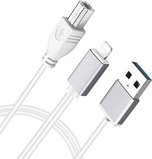MeloAudio USB 2.0 Type B Adaptateur OTG et Chargement des appareils compatibles câble MIDI iOS au contrôleur Midi, Instrum...