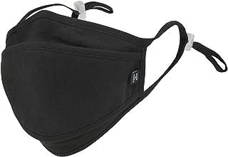 ililily Black Cotton Reusable Face Cover Sewn-in Filter Fashion Shield