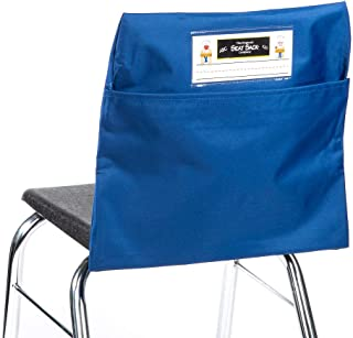 Seat Sack Elastic Back Storage Pocket, 12 to 17 Inches, Blue
