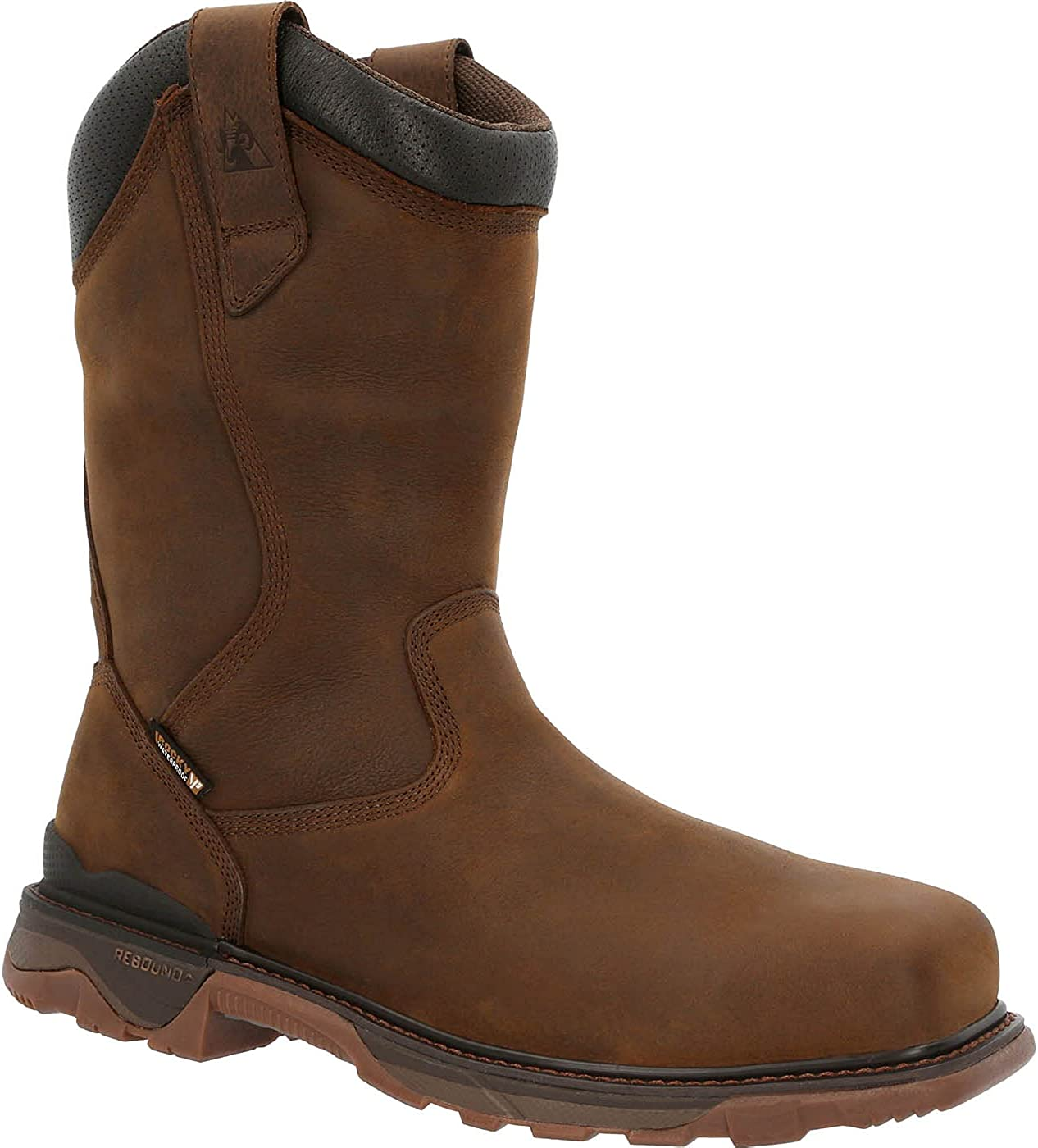 Rocky Carbon 6 Carbon Toe Waterproof Western Work Boot Size 11.5(M)