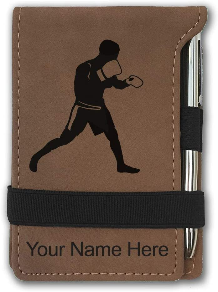 Mini Notepad Boxer Man Personalized B Engraving Included Dallas Mall Max 52% OFF Dark