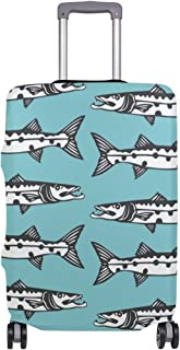 Luggage protection cover Travel Suitcase covers Barracuda Print Design M 22-24 in