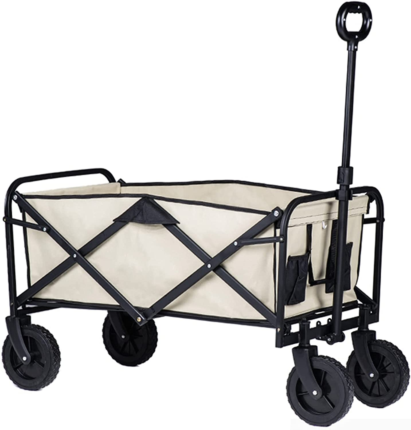 Middle Folding Garden Max 56% High quality OFF Cart Transport for Wheels Beach ° 360