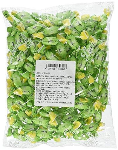 Leonsnella Caramelle senza Zuccheri al Gusto di Limone - 500 g