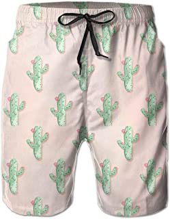 Beach Shorts for Man Fit Quick Dry Cactus-Desktop-Background-7 Dress Prints Pants Pockets Swim Trunks