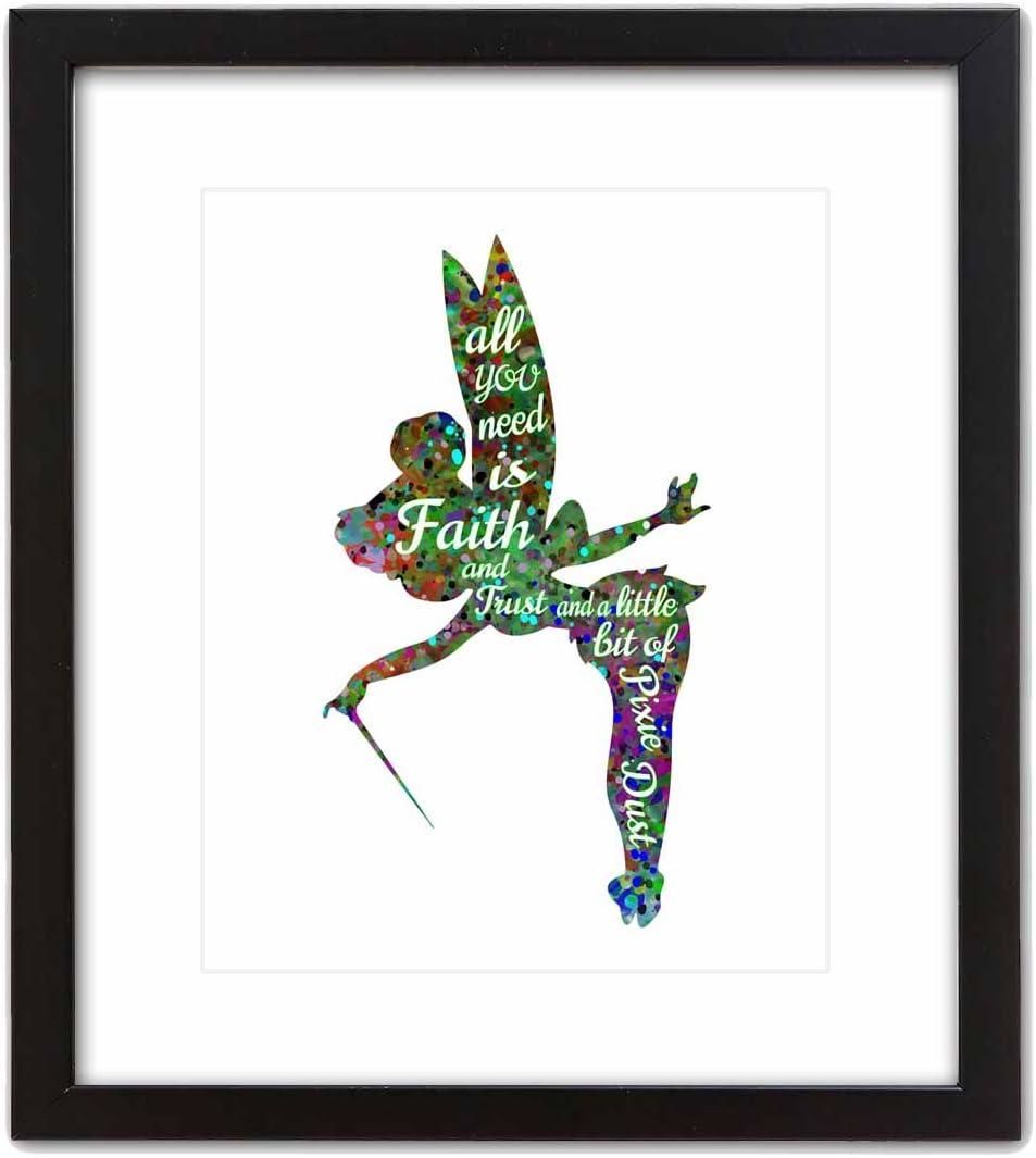 ArtDash Pop Art Print 8/×10 w//Black Frame BALLERINA Watercolor Splatter