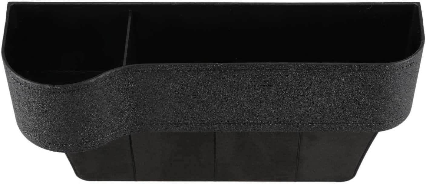 WonVon Car Seat Storage Box,1 pcs PU Leather Car Seat Gap Catcher Organiser with Cup Holder Side Car Seat Gap Storage Box Driver Side