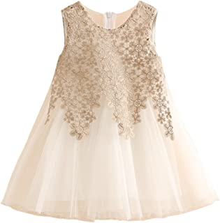 Tulle Little Girls Sleeveless Dress for Summer