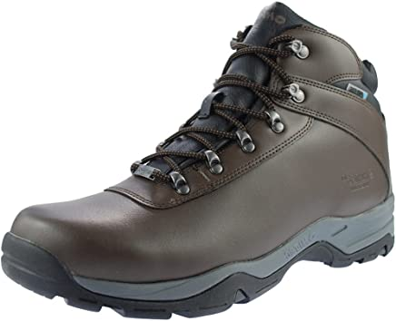 Hi-Tec Eurotrek WP Waterproof Mens Walking Boots Dark Brown : boots