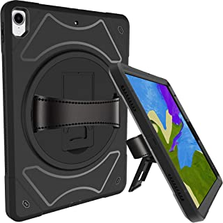 Moona iPad Pro 12.9 Case 2018 2019 Premium Hybrid Full Body 3 Layer Armor Protective Shockproof iPad 12.9 Cover for Kids and Adults - Hand Grip and Rotating Kickstand for iPad 3rd Generation (Black)