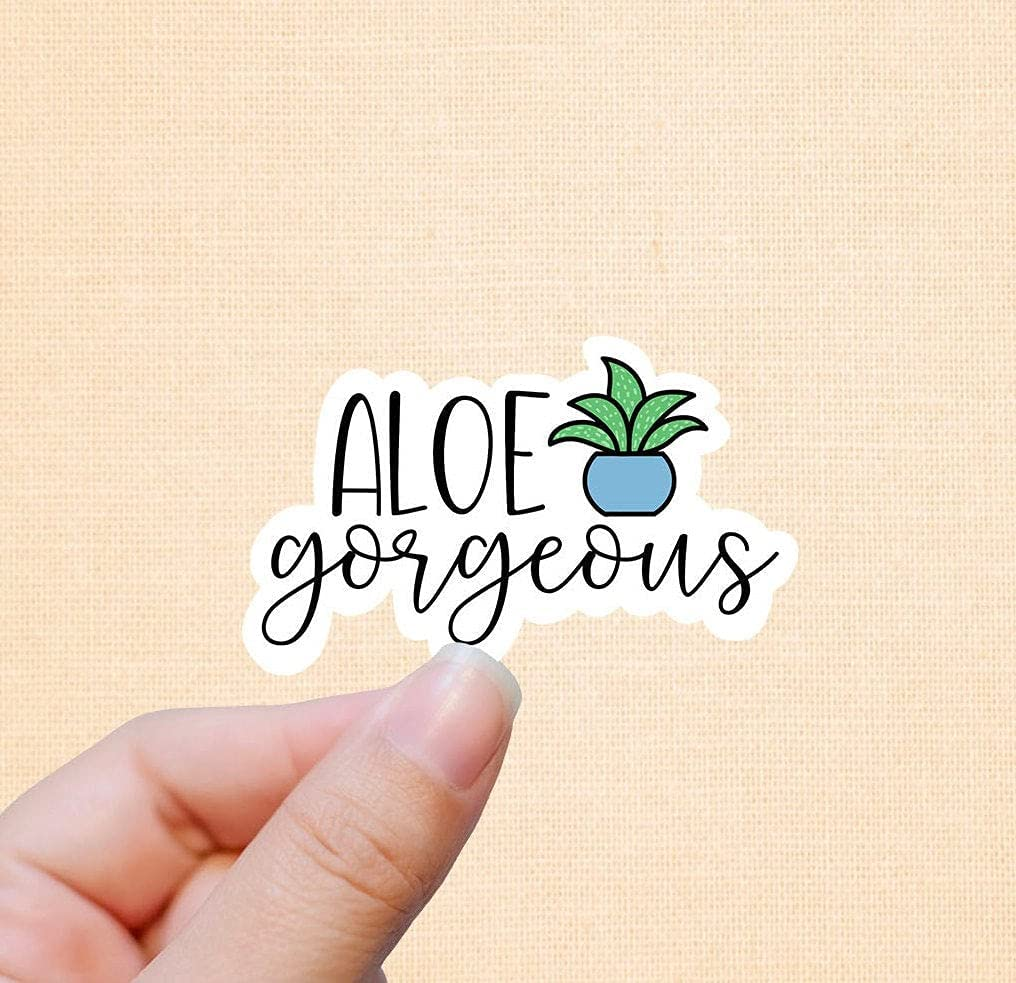 Shipping included Aloe Gorgeous Garden Vinyl Stickers Decal S Water Bottle Laptop Japan's largest assortment