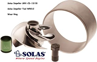 SOLAS Sea Doo 4-Tec 215 Impeller SRX-CD-13/18 W/Wear Ring & Tool GTX RXP RXT Wake