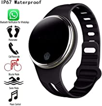 FridCy E07 Waterproof Bluetooth 4.0 Smart Wristband Fitness Tracker Pedometer Smart Watch Band for iOS&Android Bluetooth Fitness Pedometer (Color : Black)