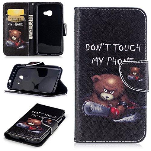 Samsung Galaxy Xcover 4 Hülle, SATURCASE Schönes PU Lederhülle Magnetverschluss Flip Brieftasche Handy Tasche Schutzhülle Handyhülle mit Standfunktion für Samsung Galaxy Xcover 4 SM-G390F (Muster-6)