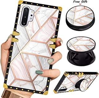 Luxury Square Phone Case Samsung Galaxy Note 10+Plus/Note 10 Plus 5G White Marble Design Retro Elegant Soft TPU Design Cover