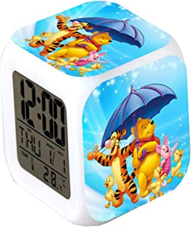 Very Lovely Winnie The Pooh Alarm Clocks,Glowing LED Color Change Alarm Clocks