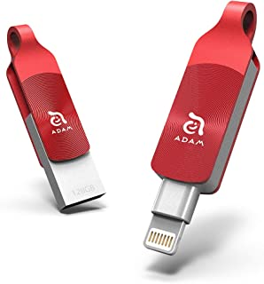 ADAM iKlips DUO+ iPhone対応 Lightning(ライトニング) USBメモリ 128GB レッド MFi認証 国内正規品 3年保証 Amazon.co.jp限定 ADM-DP128RD