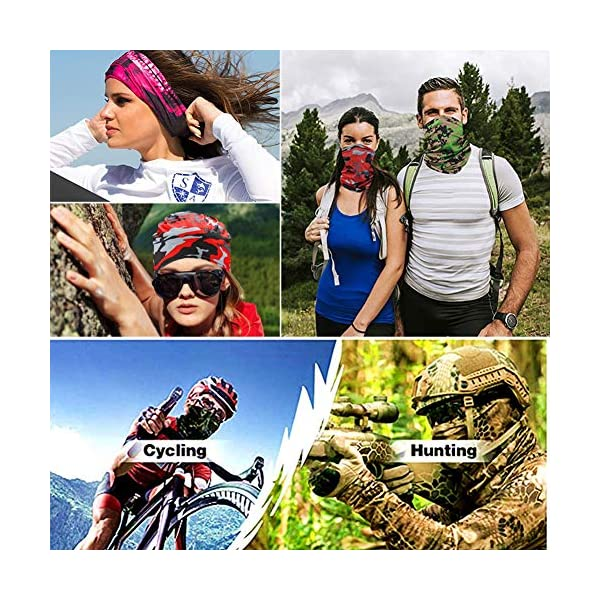 Corona Virus protection products [9 Pack] Summer UV Protection Face Mask Neck Gaiter Bandana Breathable Headwrap Cooling